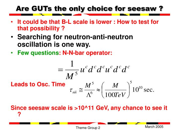 Are GUTs the only choice for seesaw ?