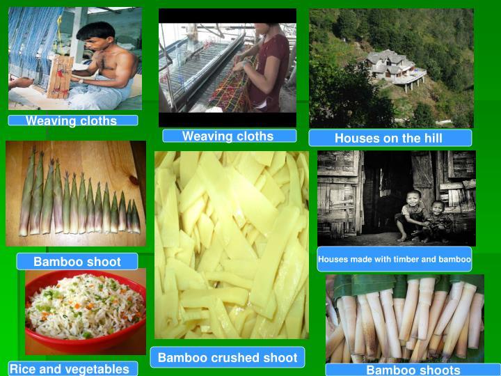 Weaving cloths