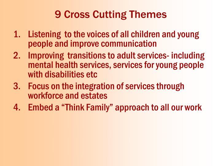 9 Cross Cutting Themes