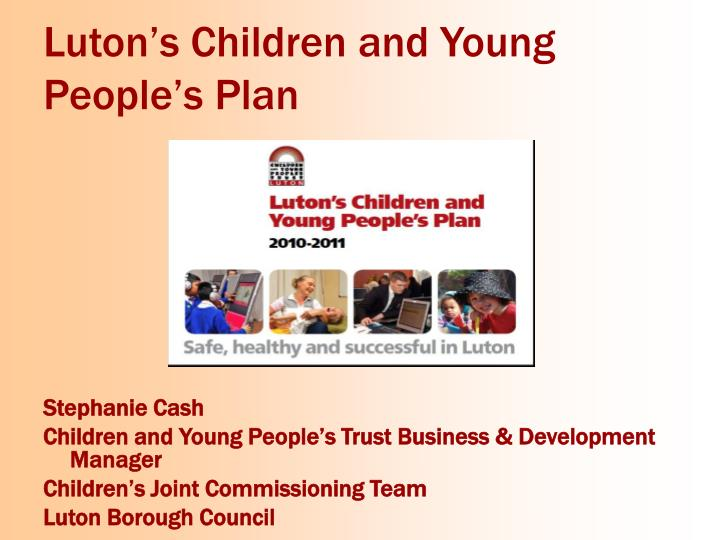 Luton's Children and Young People's Plan
