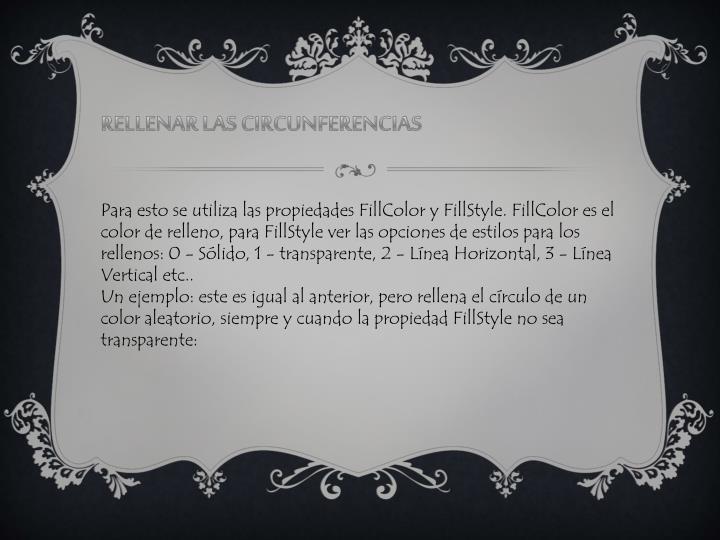 RELLENAR LAS CIRCUNFERENCIAS
