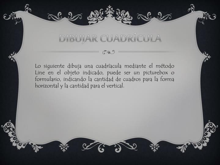 DIBUJAR CUADRÍCULA