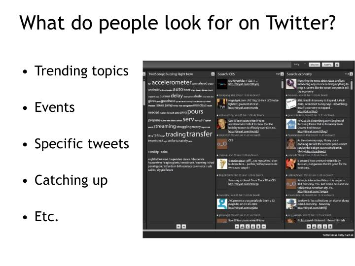 What do people look for on Twitter?