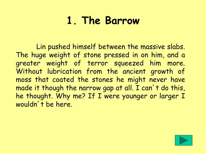 1 the barrow