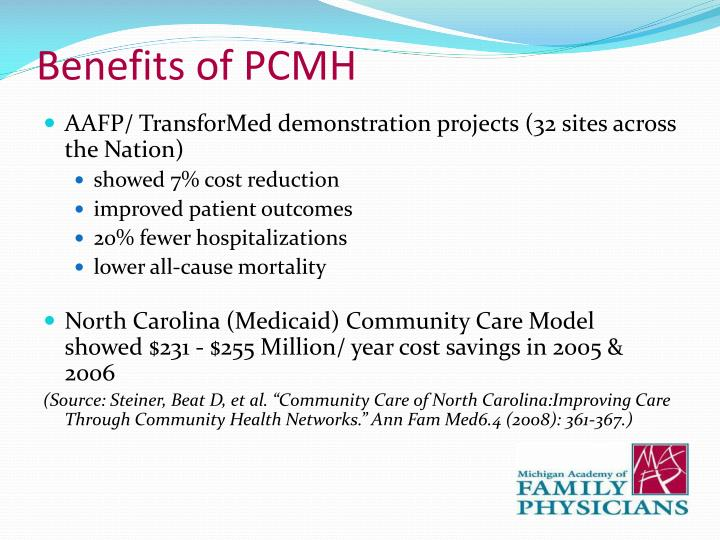 Benefits of PCMH
