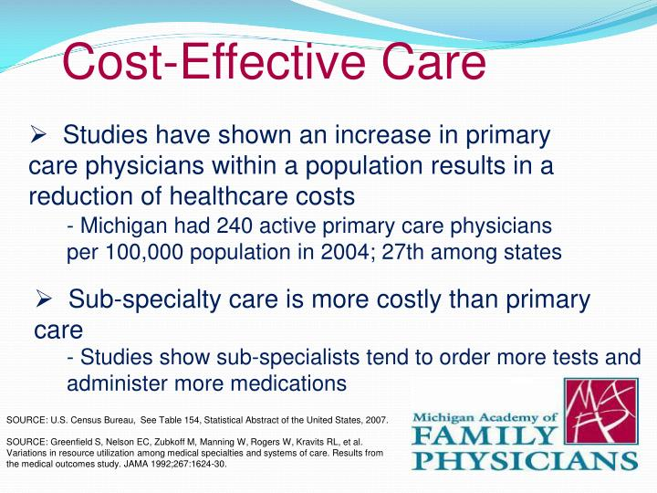 Cost-Effective Care