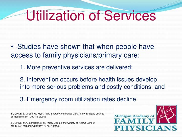Utilization of Services