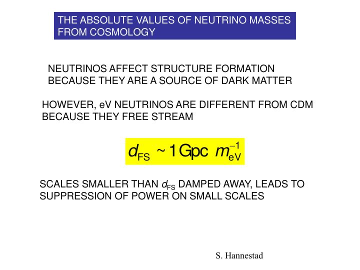THE ABSOLUTE VALUES OF NEUTRINO MASSES