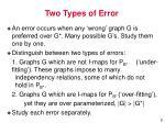 two types of error