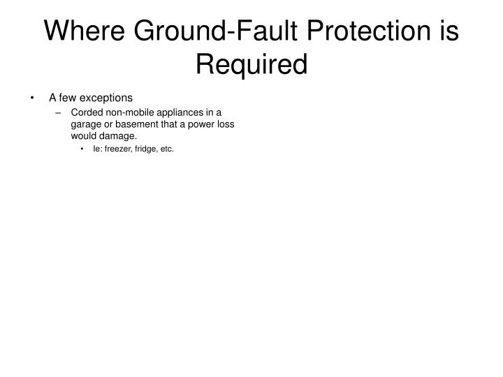 Where Ground-Fault Protection is Required