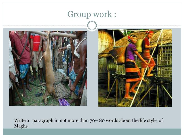 Group work :