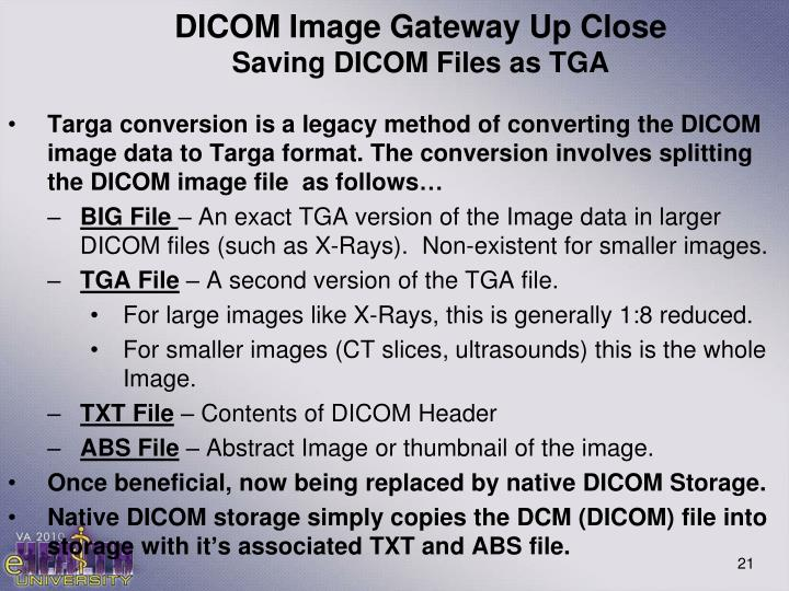 DICOM Image Gateway Up Close