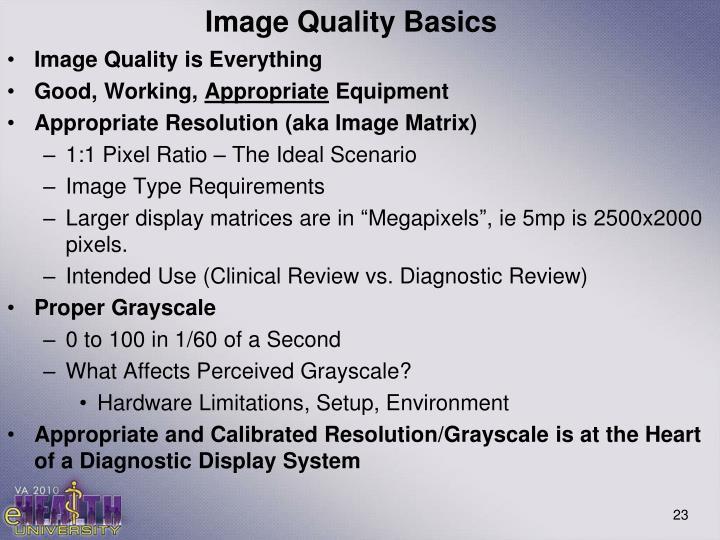 Image Quality Basics