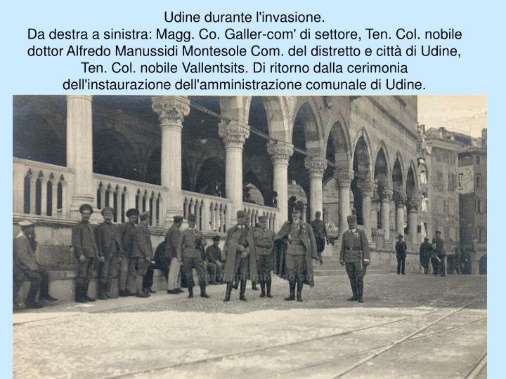 Udine durante l'invasione.