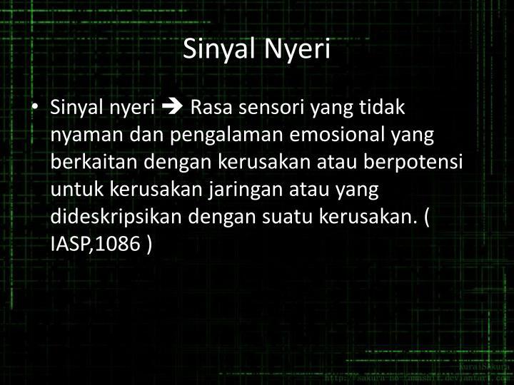 Sinyal Nyeri