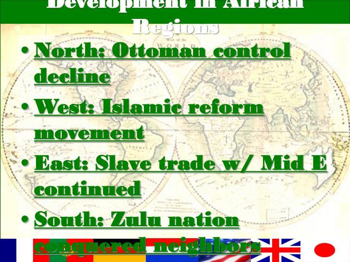 Development in african regions