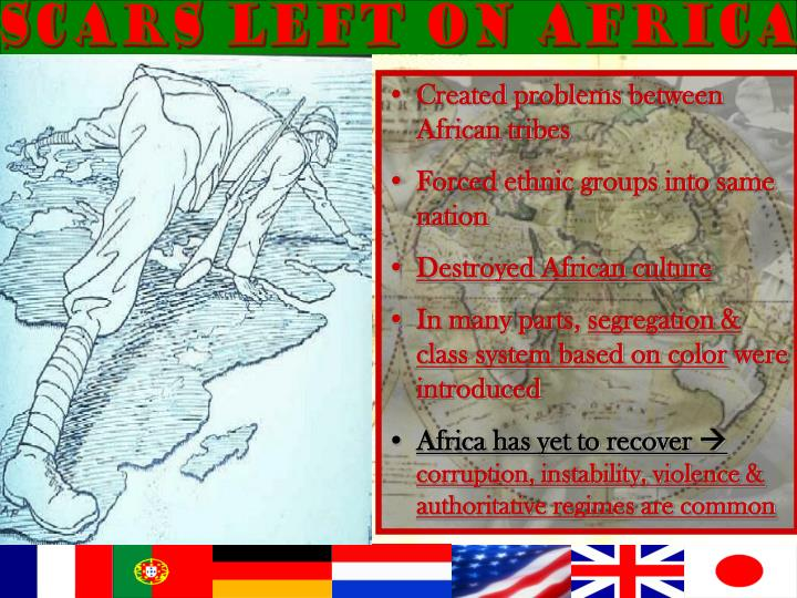 Scars left on Africa
