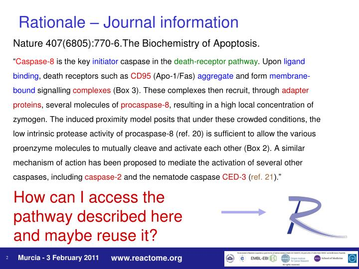 Rationale journal information