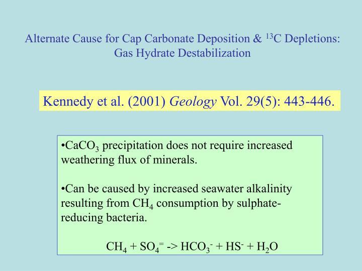 Alternate Cause for Cap Carbonate Deposition &