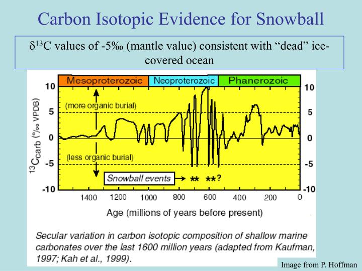 Carbon Isotopic Evidence for Snowball