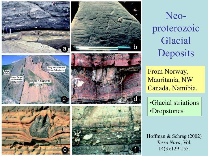 Neo-proterozoic Glacial Deposits