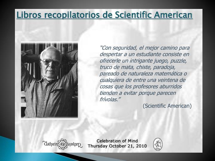 Libros recopilatorios de Scientific American