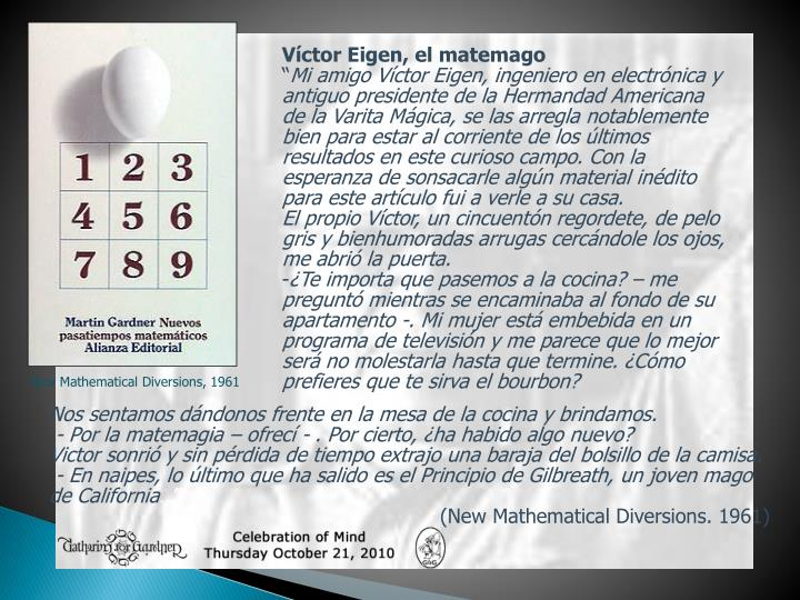 Víctor Eigen, el matemago