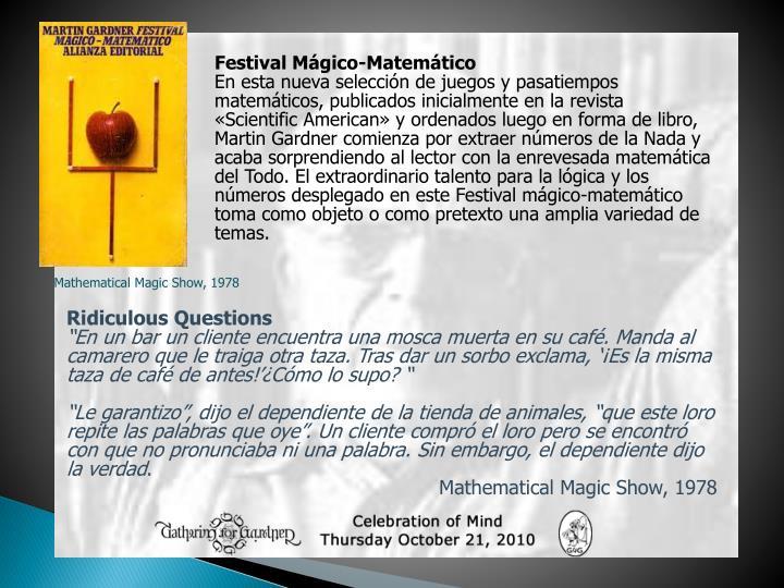 Festival Mágico-Matemático