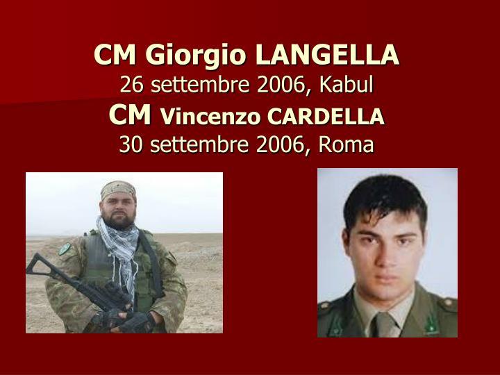 CM Giorgio LANGELLA