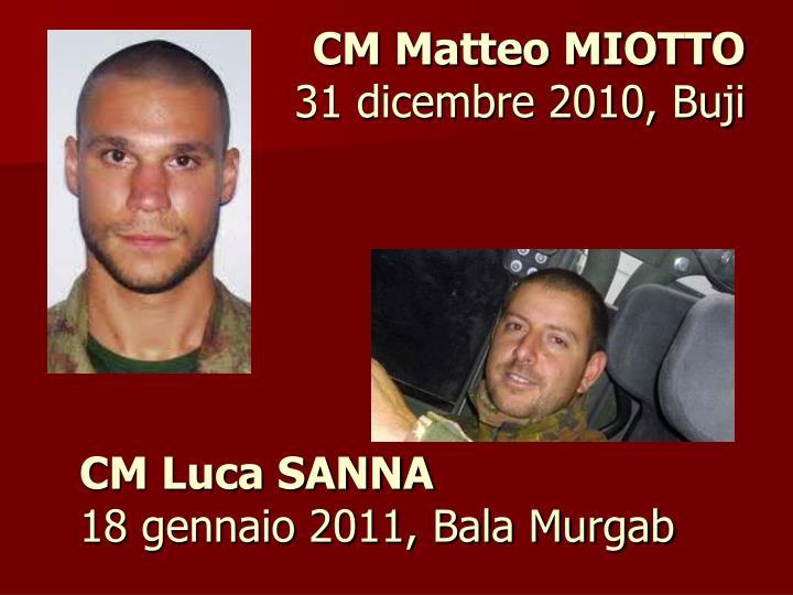 CM Luca SANNA