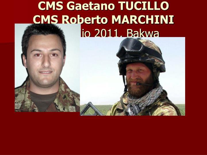 CMS Gaetano TUCILLO