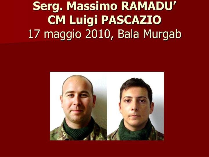 Serg. Massimo RAMADU'