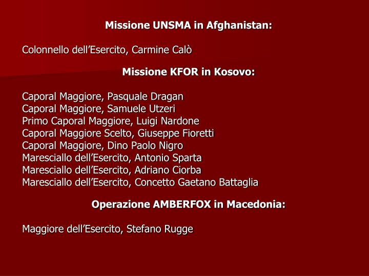 Missione UNSMA in Afghanistan: