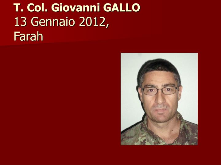T. Col. Giovanni GALLO