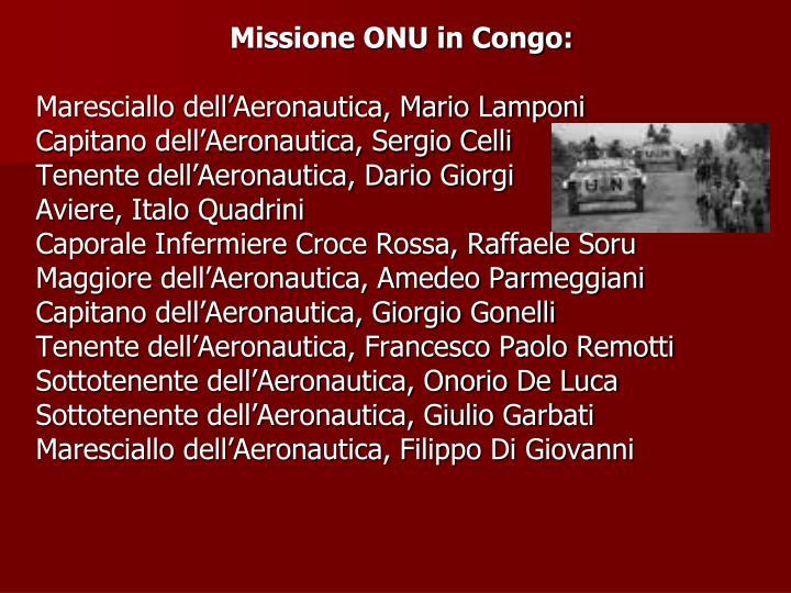 Missione ONU in Congo:
