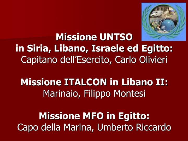 Missione UNTSO