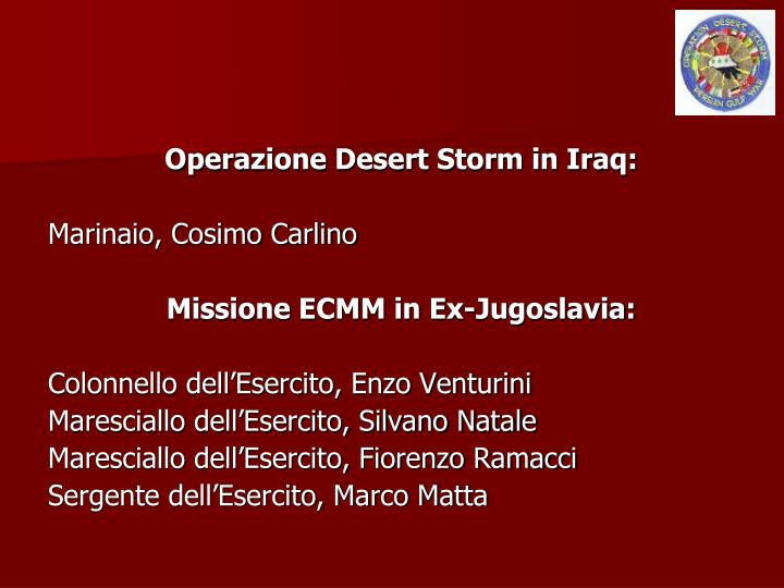 Operazione Desert Storm in Iraq: