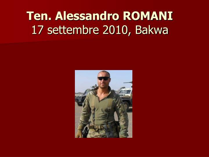 Ten. Alessandro ROMANI