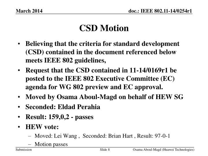 CSD Motion