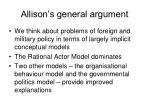allison s general argument