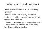 what are causal theories