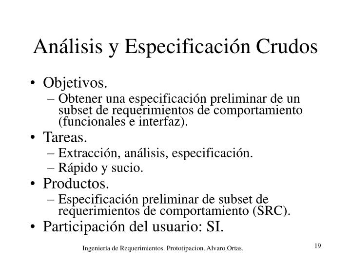 Análisis y Especificación Crudos