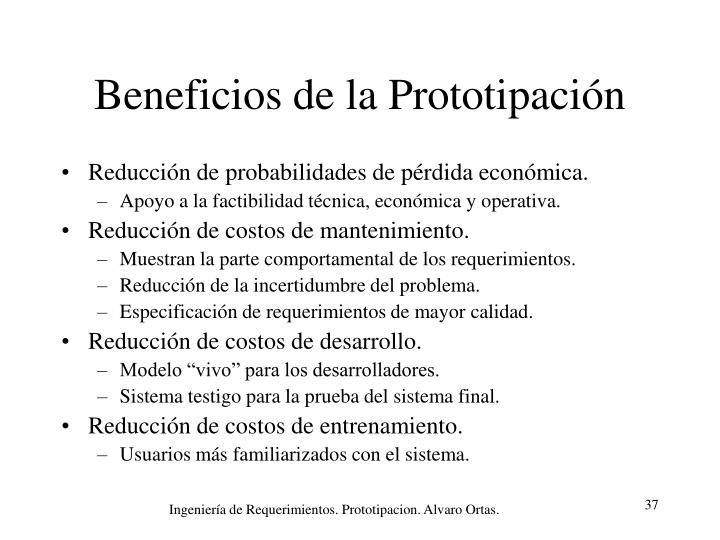 Beneficios de la Prototipación