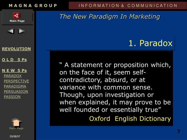 1. Paradox