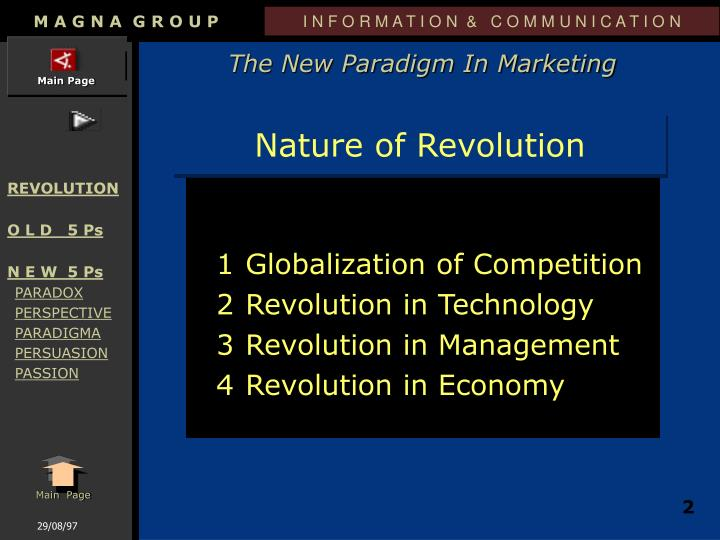 Nature of revolution
