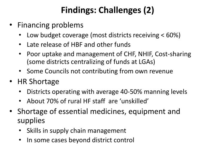 Findings: Challenges (2)