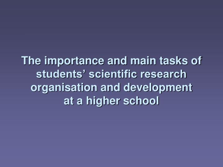 The importance and