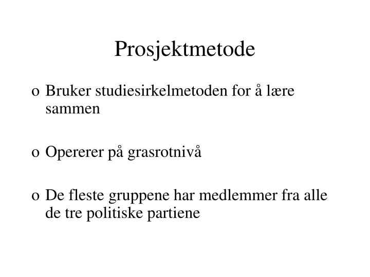 Prosjektmetode