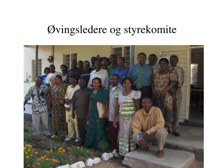 Øvingsledere og styrekomite