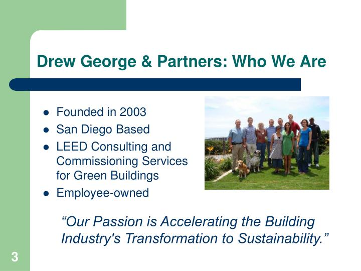 Drew george partners who we are